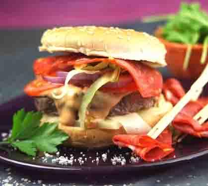 Cheeseburger Bœuf, Fromage Basque Et Chorizo - Envie De ...