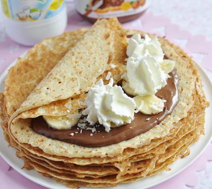Crepes Au Chocolat Banane Et Chantilly Envie De Bien Manger
