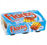 Flanby vanille coulis caramel