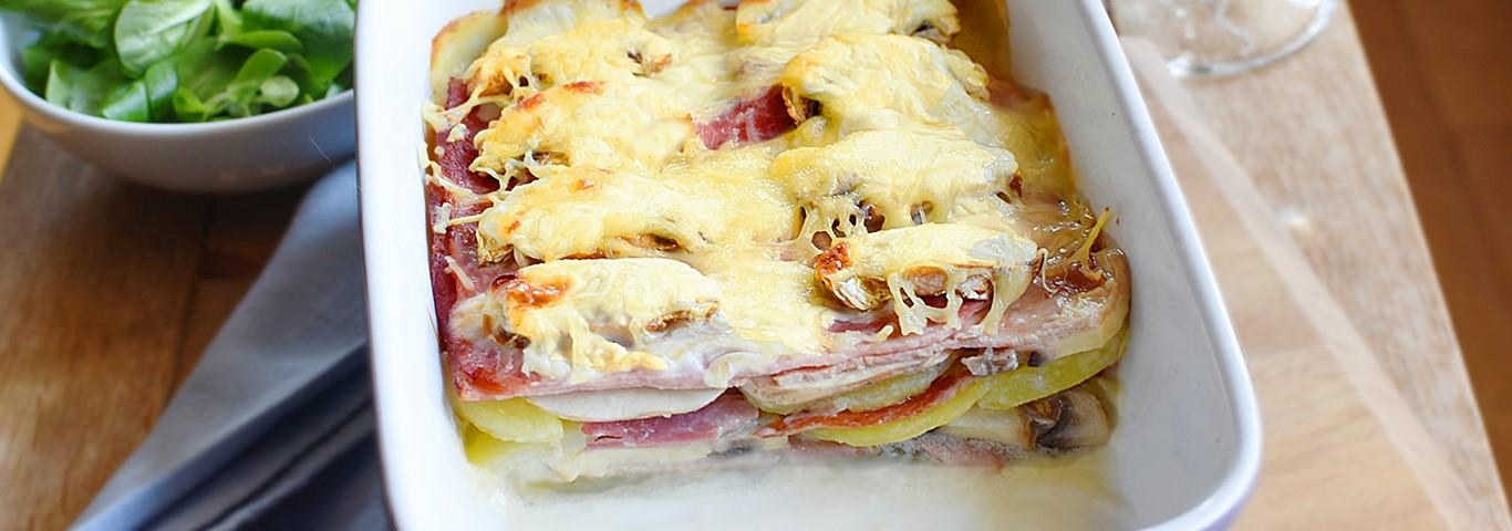 Gratin De Pommes De Terre Jambon Et Champignons Envie De Bien Manger