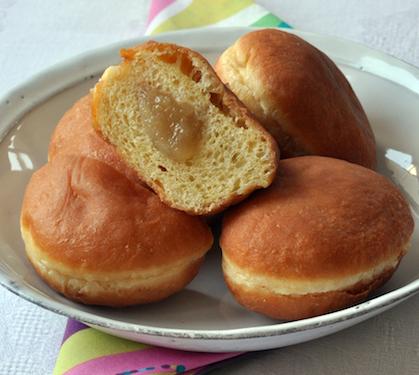 Beignets la compote de pommes cuits au four envie de bien manger - Recette beignet facile avec levure de boulanger ...