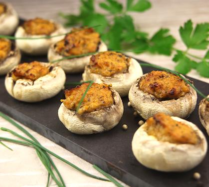 champignons de paris farcis au beurre de l gumes envie de bien manger. Black Bedroom Furniture Sets. Home Design Ideas