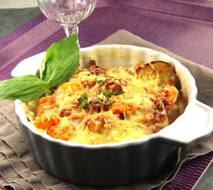 Gratin aux carottes pommes de terre et lardons envie de bien manger - Recette de pomme de terre en gratin ...