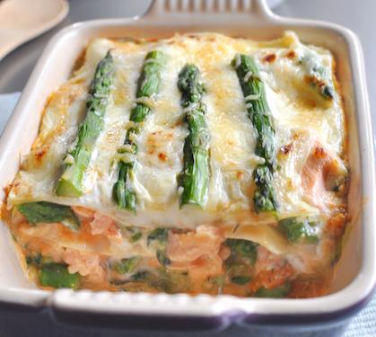 Lasagnes de saumon aux asperges vertes envie de bien manger - Recette asperge verte poelee ...