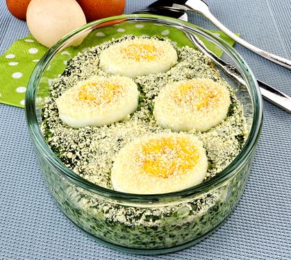 Pinards aux ufs en gratin envie de bien manger - Plat facile et leger ...