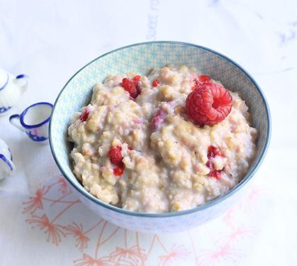 Porridge Anglais Aux Framboises   Dès 6 Mois - Envie De