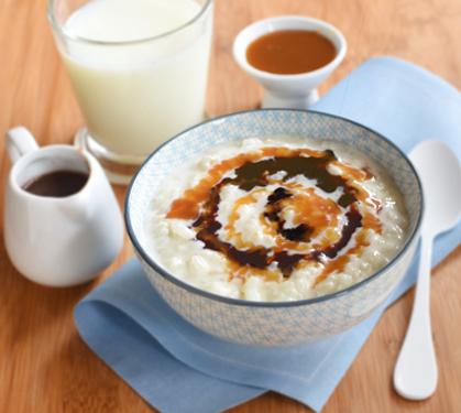 riz au lait et son coulis chocolat caramel envie de bien manger. Black Bedroom Furniture Sets. Home Design Ideas