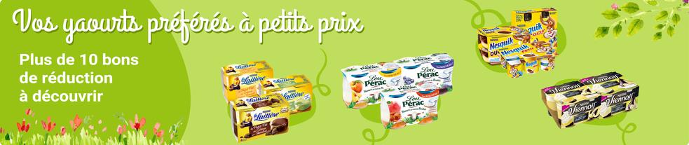Vos yaourts préférés à petits prix