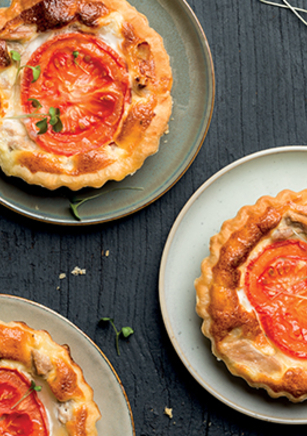 Mini quiches thon, tomates et mozzarella
