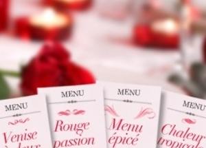 8 menus romantiques, à partager à deux