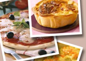 Tartes, quiches et pizzas maison