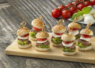 Mini burgers tomates et pesto