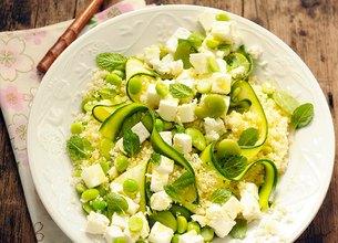 Salade de semoule et légumes au Salakis