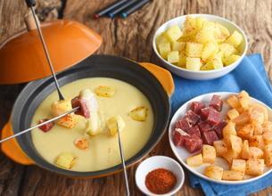Fondue aux pommes de terre et poires