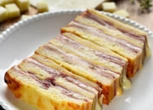 Cake croque-monsieur à la Tomme de Brebis Lou Pérac