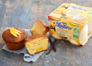 Cake au yaourt mangue-vanille