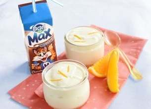 Petites mousses à l'orange, Lactel Max au chocolat