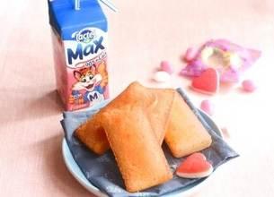 Lactel Max fraise et ses financiers aux bonbons à la fraise