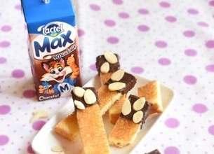 Lactel Max au chocolat et ses briochettes chocolatées