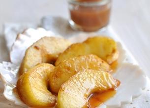 Pommes sautées, caramel au beurre salé