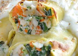 Cannelloni au crabe et épinards