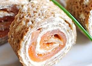 Galette de blé noir au Rondelé Citron Givré et saumon fumé