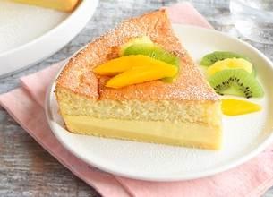 Gâteau magique vanille et fruits exotiques