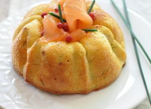 Flans Société Crème, saumon fumé et ciboulette