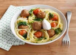 One Pot Pasta aux boulettes d'agneau et Ricotta