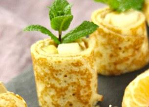 Sushis de crêpes aux poires et clémentines