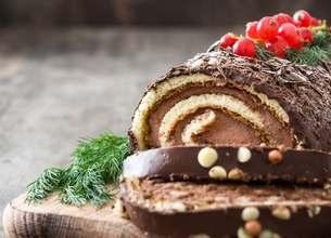 Bûche de Noël au chocolat
