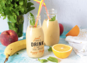 Smoothie bananes pêches