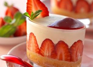 Tiramisu fraises et menthe fraîche