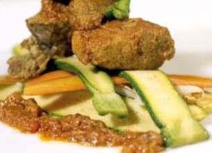 Agneau aux épices et yaourt et ses petits légumes