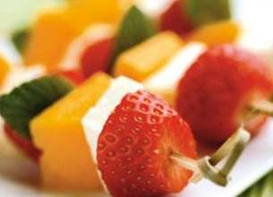 Brochettes de fraises apéritives