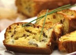 Cake au bleu d'Auvergne et aux noix