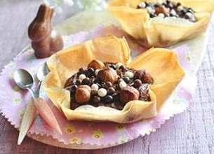 Corolles croustillantes au chocolat