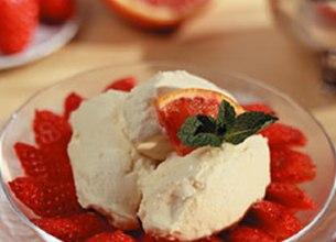 Coupe aux fraises et mascarpone