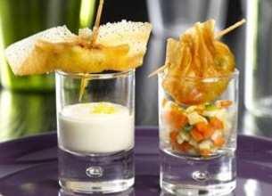 Croustillants à l'Emmental et crème citron