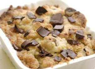 Crumble poire chocolat et noisette