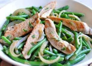 Fricassée de poulet aux haricots verts