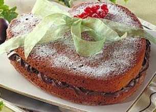 Gâteau au yaourt et son coeur en chocolat