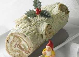 La bûche de Noël au roquefort