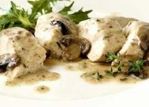Languettes de poulet aux champignons sauce mascarpone