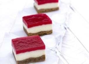 Mini bavarois de yaourt à la framboise