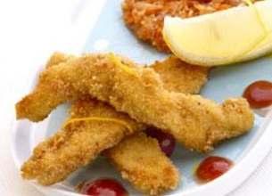 Nuggets de poulet, galettes de légumes tandoori