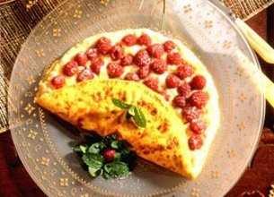 Omelette aux framboises