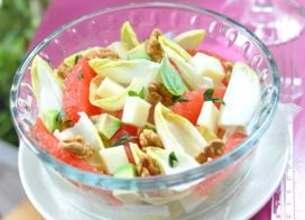 Salade d'endives à la Tomme de Brebis Lou Pérac et au pamplemousse