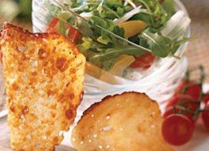 Salade de Roquette et Tuiles de Mozzarella