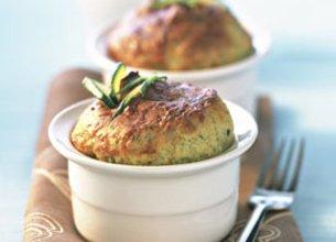 Soufflé de Courgettes aux Olives et Parmesan
